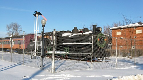 Preserved Chicago Gravel Company steam locomotive # 18. Bensenville Illinois. January 2009. by Eddie from Chicago
