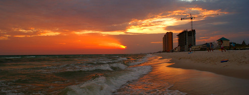 sunset red sea sky sun beach gulfofmexico water weather clouds buildings sand waves afternoon gulf florida towers shore pcb panamacitybeach panamacitybeachflorida platinumphoto alabadrock alalto