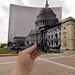 Looking Into the Past: US Capitol Under Construction, Washington, DC by jasonepowell