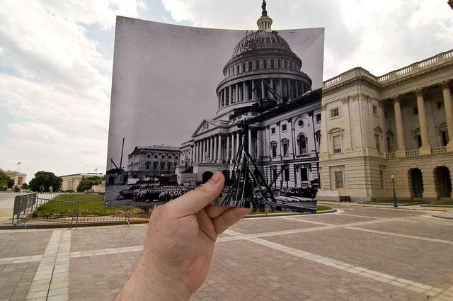 Looking Into the Past: US Capitol Under Construction, Washington, DC