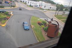 Arriving in Staunton, Va.