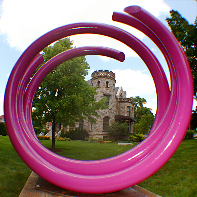 ArtPrize John Clement Sculpture at Castle 8-13-095
