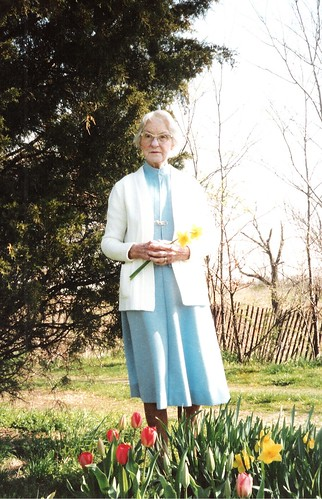 Ruth and spring flowers