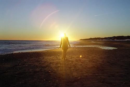 ocean winter light sunset snow newyork love film beach girl 35mm montauk