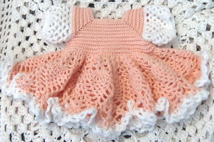 GoCrochet: Summer Blues Baby Dress Pattern PDF