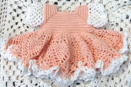 GoCrochet: Summer Blues Baby Dress Pattern PDF