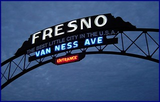Fresno Welcome Arch built in 1917 restored 2009