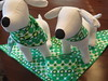 St. Patty's Day dog bandanas by Pinstripe Paws
