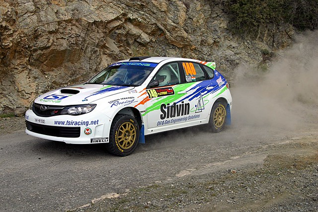 Speeding car at the Cyprus Rally by flickr user mamchenkov