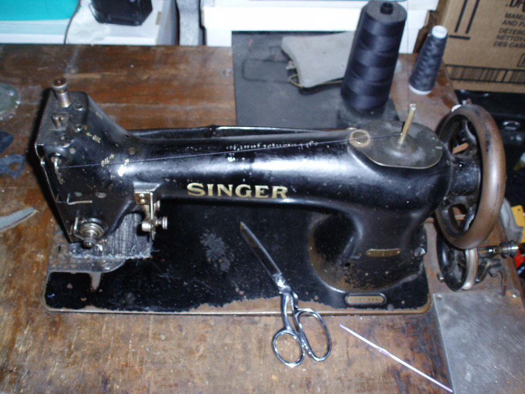 102 year old Singer Industrial Sewing Machine. I still use this machine.