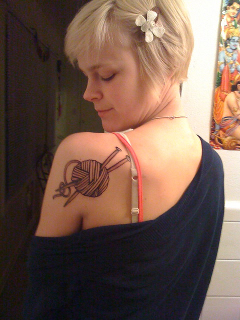 Knitting Related Tattoos : Flickr the knitting tattoos pool