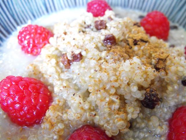 hot quinoa breakfast cereal