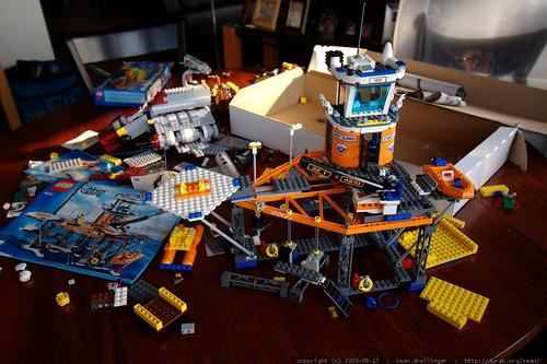 a few of nick's new lego kits c/o grandma neeta and grandpa jeff    MG 1468