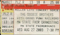 08/27/03 Doobie Brothers/Grand Funk Railroad @ Minnesota State Fair - St. Paul, MN (Ticket)