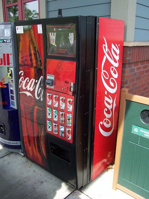 coca cola vending machine new