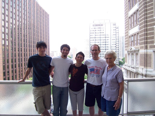 anna's family at the hotel
