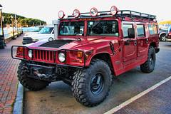 military vehicle(0.0), hummer h3(0.0), hummer h2(0.0), automobile(1.0), automotive exterior(1.0), sport utility vehicle(1.0), vehicle(1.0), hummer h1(1.0), off-roading(1.0), hummer h3t(1.0), off-road vehicle(1.0), bumper(1.0), land vehicle(1.0), luxury vehicle(1.0),