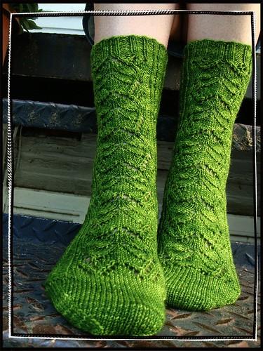 snow petals socks 009-2