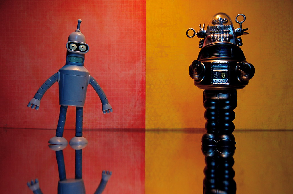 Bender vs. Robby the Robot (121/365)
