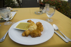 Coconut Shrimp with Curry and Pumpkin Risotto