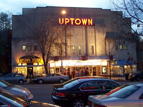 Uptown Theater at night, Cleveland Park, Washington, DC