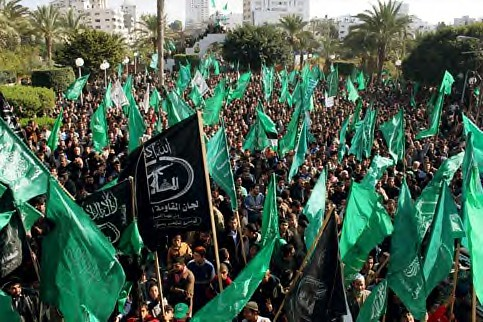 Thousands of Palestinians attend a rally organized by Hamas in Gaza City days after Israel declared a unilateral ceasefire, 20 January 2009. (Mohamed Al-Zanon/MaanImages) by Pan-African News Wire File Photos