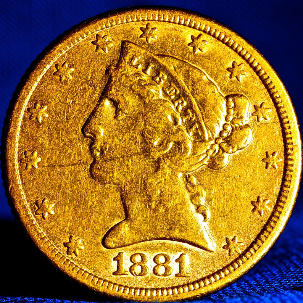 1881 Us 5 Gold Piece