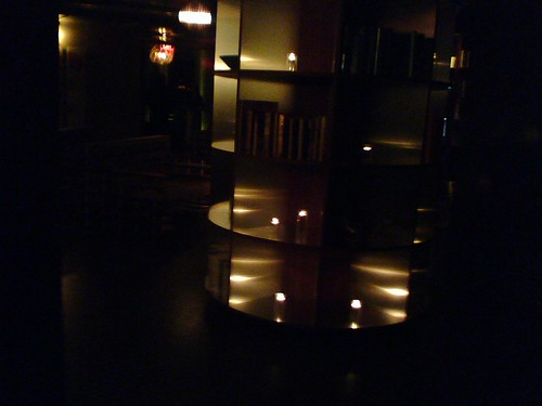 The lobby/lounge/library at NYLO