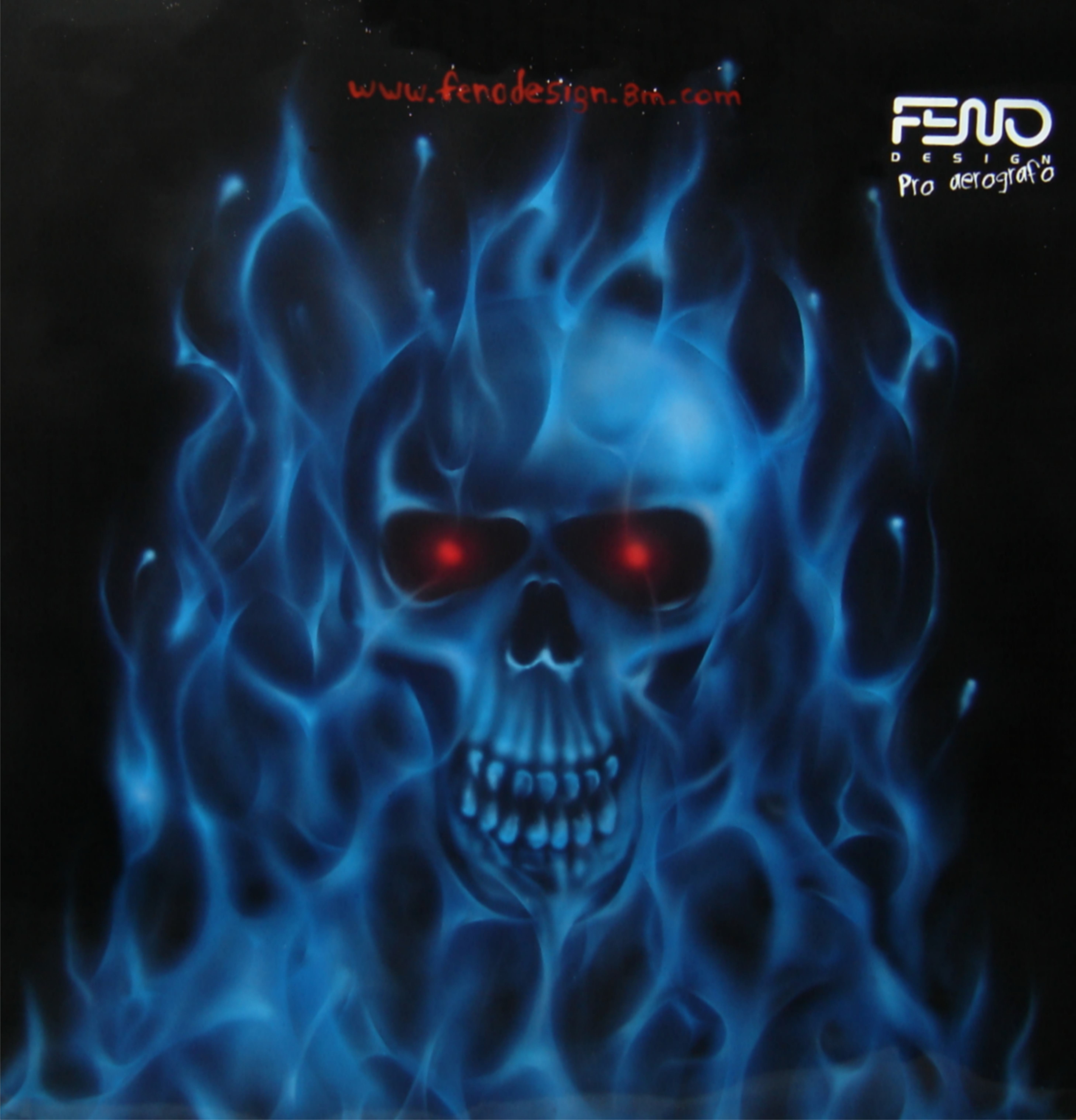 BLUE FIRE WITH SKULL by FENO   Flickr - Photo Sharing!