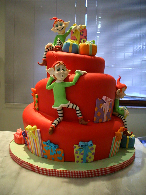 christmas pretty elf cake(awarded)