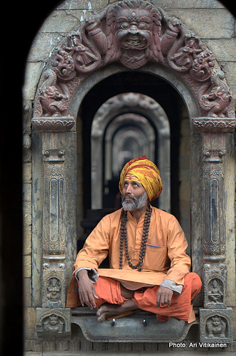 Sadhu on doorway