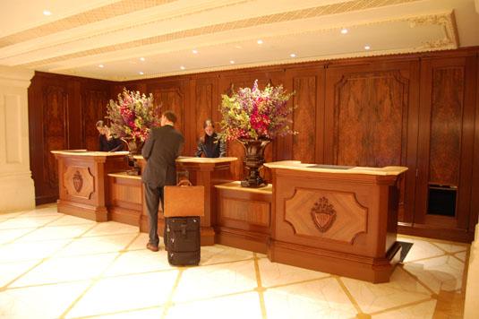 New Plaza Hotel reception desk