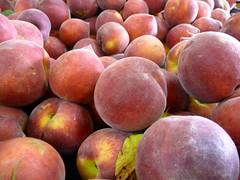 peach, produce, fruit, food, nectarine,