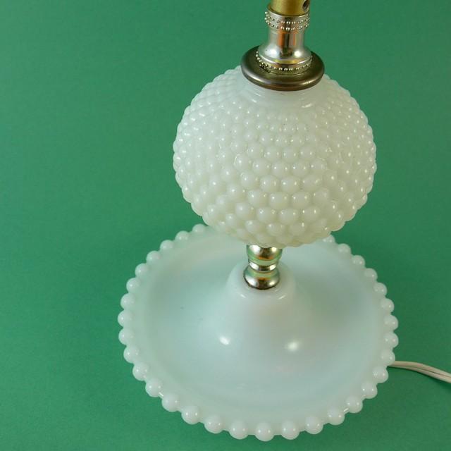 vintage milk glass hobnail lamp flickr photo sharing