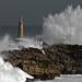 Lighthouse-faro-Mouro-Waves-Olas Mouro.Cantabria / 7863DSC