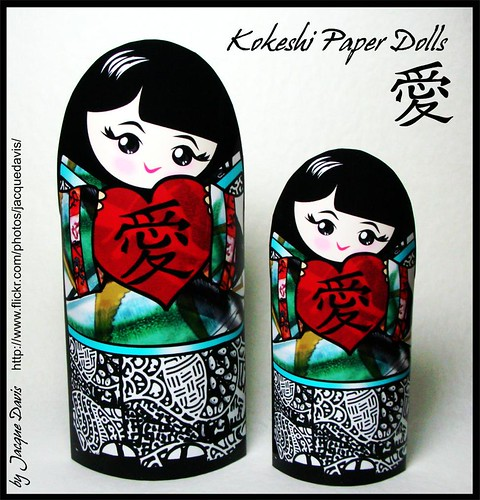Kokeshi Dolls for Valentine's Day