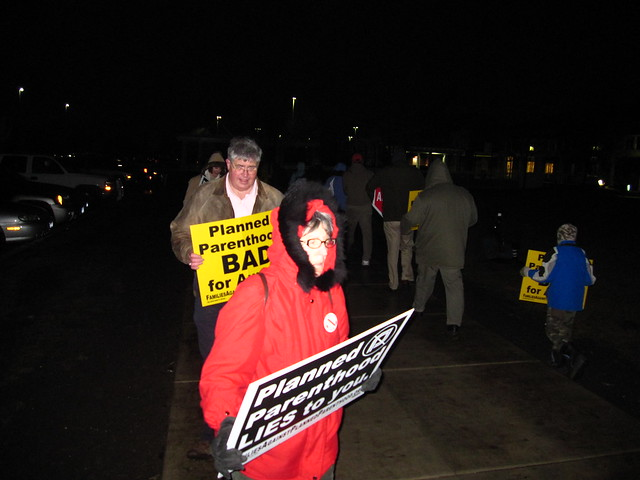 "2009-02-12 Protest of Planned Parenthood's ""Community Forum"" on Reproductive Justic"