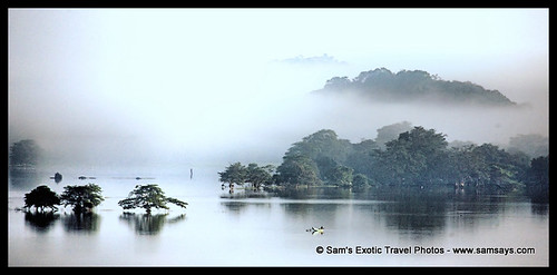 trees sunset mist art water misty sunrise reflections hills srilanka dambulla amayalake mywinners travelerphotos visionqualitygroup