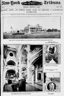 Shadow lawn, of sordid fame, soon to become a luxurious clubhouse (LOC)