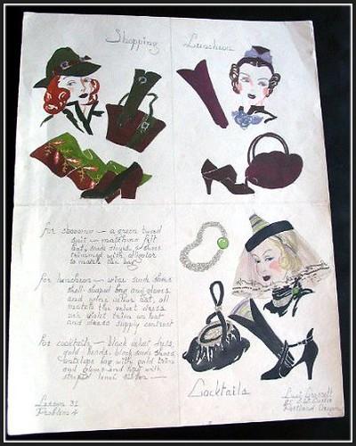 1930 Fashion on Fashion Accessories Vintage 1930 S Fashion Illustration Hats Shoes