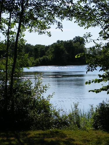 summer lake green water maine 2007