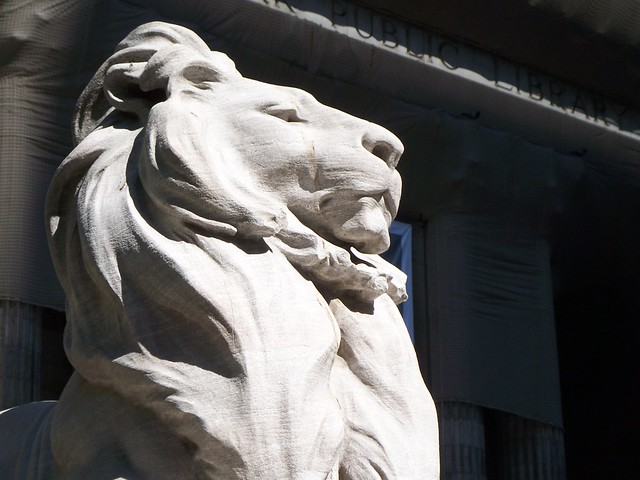 a new york public library lion