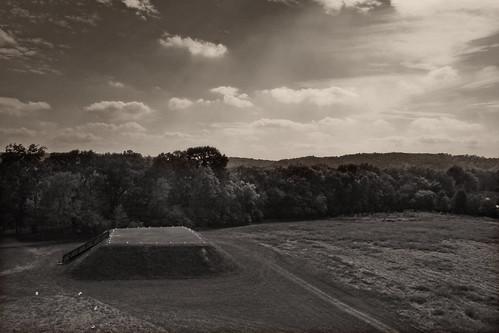 Etowah Indian Mounds, Mound B Viewed from Mound A by Juli Kearns (Idyllopus)