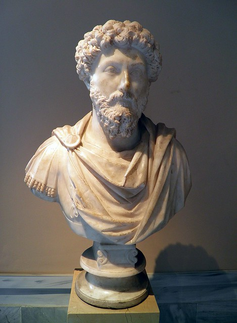 Bust of the Emperor Marcus Aurelius (161 - 180 AD), Sculpture of Roman Period, Istanbul Archaeology Museum