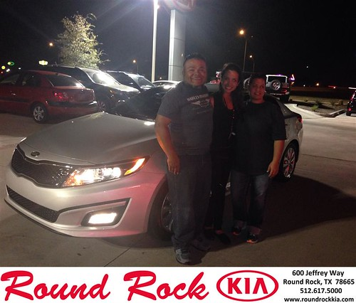 Thank you to Robert Ybarra on your new 2014 #Kia #Optima from Andi Wilson and everyone at Round Rock Kia! #NewCar by RoundRockKia