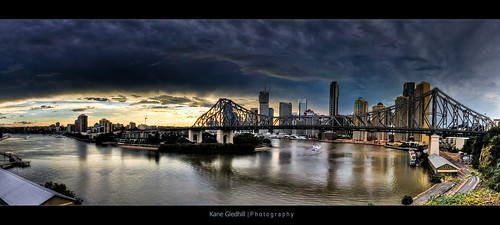 city bridge sky storm reflection water clouds river view pano australia brisbane panoramic lookout qld pro kane australiaday hdr storybridge fortitudevalley sigma1020mm kangaroopoint gledhill autopano johnbradfield kanegledhill humanhabits kanegledhillphotography