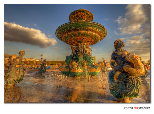 Fontaine des Mers on the Place de la Concorde @ Paris (France) #2 - HDR