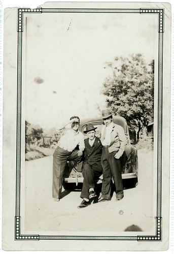three guys and a car