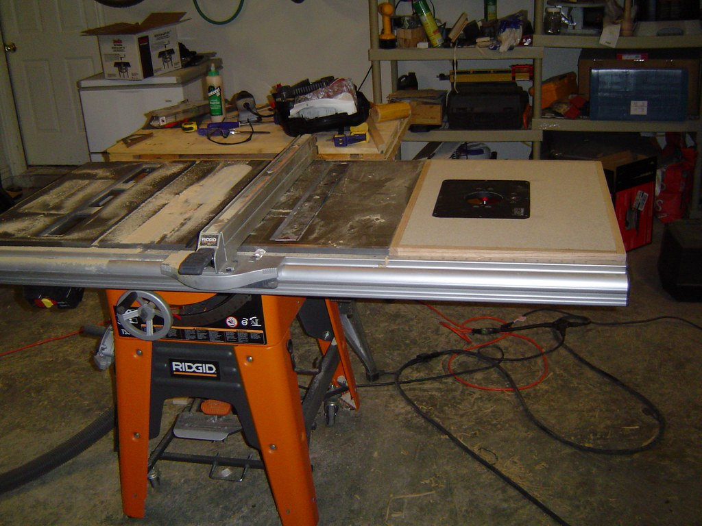 Router Table Extension Ridgid Plumbing Woodworking And Power Tool Forum