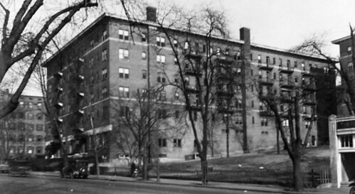 View of the Clifton Terrace apartment building